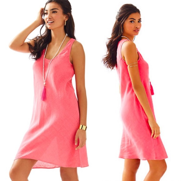 Lilly Pulitzer Dresses & Skirts - •Lilly Pulitzer• Patterson Linen Tank Dress Coral